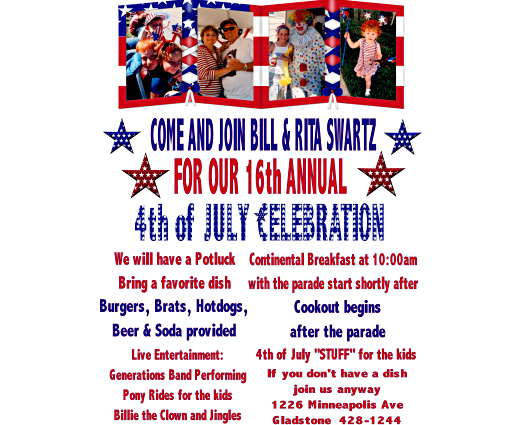 Party Invitation - Click Here For a Larger View