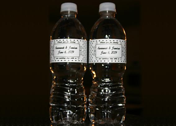 Wedding Water Bottles - Click Here For a Larger View