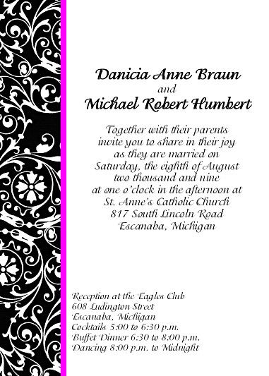 Wedding Invitations - Click Here For a Larger View